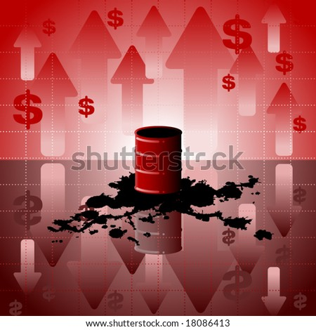 Vector background showing rising expense of oil