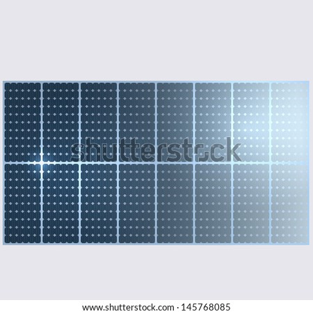 Vector background. Solar panels.