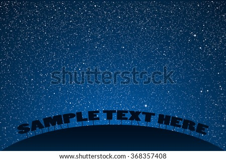 vector background starry night