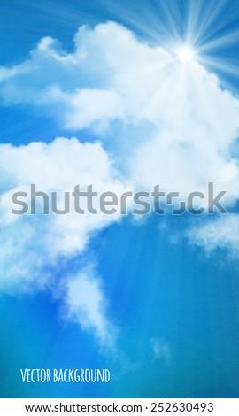 vector background  sun over