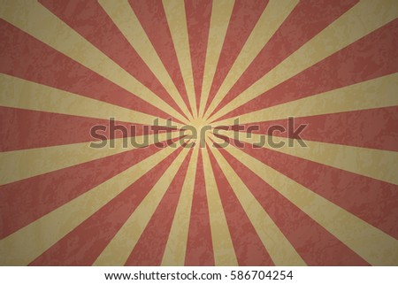 Vector background sun rays in retro style