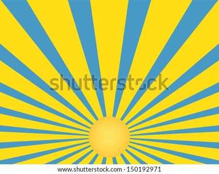 yellow rays vector - photo #22