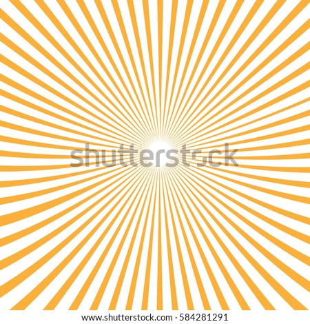 Vector background sun rays with white and orange color.