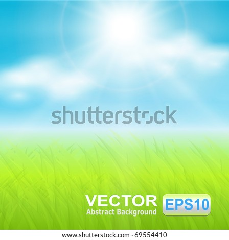 vector background  sunny spring
