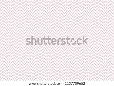 Vector background - texture - red pattern from rhombi. Thin line. Use for certificate, voucher, banknote, voucher, money design, currency, note, check, ticket, reward etc. Eps 10.