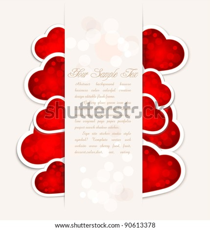 vector background to a festive Valentine's Day with hearts for the paper