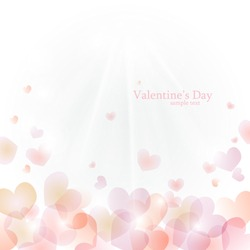 Vector background to Valentine's Day with hearts