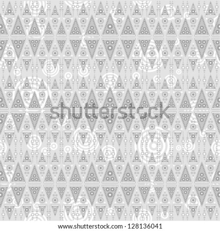 Vector background - tribal gray seamless with triangles (snake skin style), For easy making seamless pattern just drag all group into swatches bar, and use it for filling any contours.