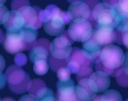Vector Background, Underwater Abstract Lights, Bokeh Light Spots, Blue Color.