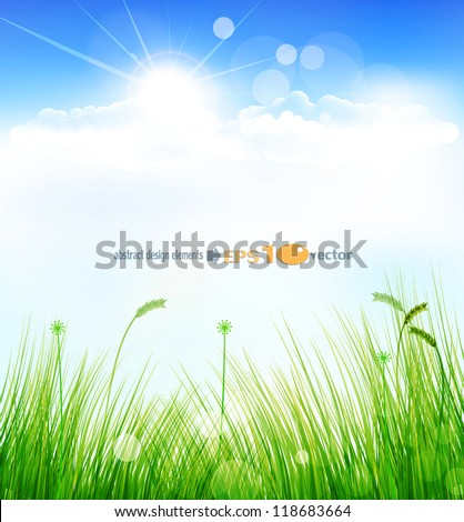vector background with a blue