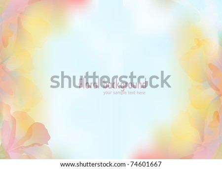 vector background with a delicate flower petals