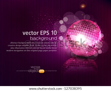 vector background with a mirror