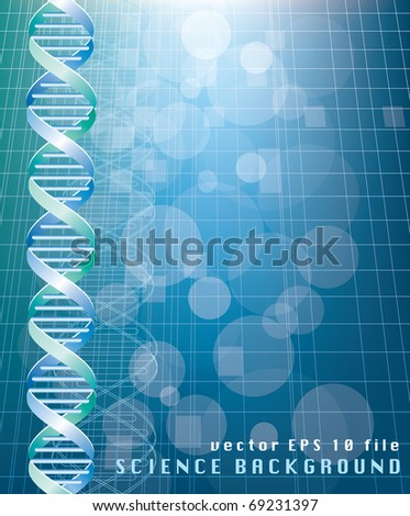 vector background with abstract DNA graph