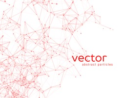 Vector background with abstract particles. EPS 10.