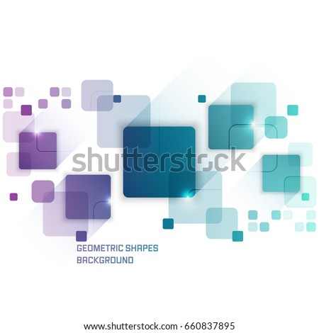 Vector background with abstract square pattern and glitter. Design with stripe for your text.
