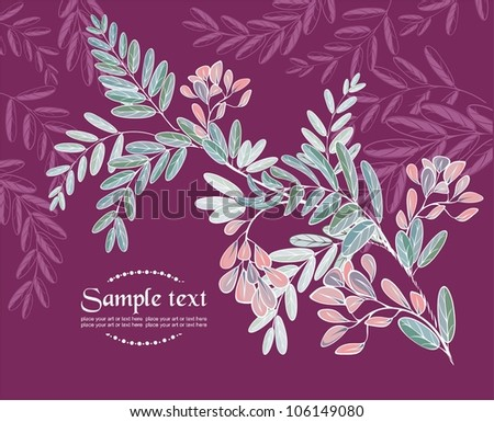 vector background with acacia clusters