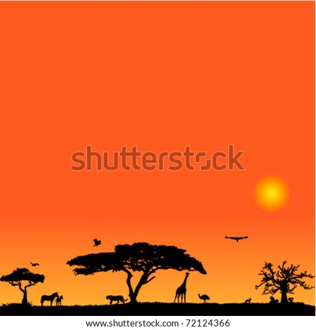 vector background with african