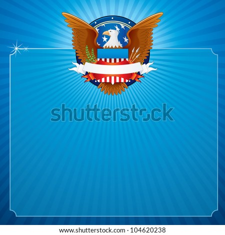 Vector Background with American Eagle.
