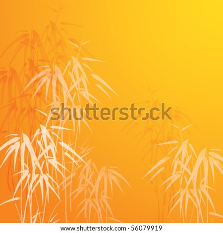 Vector background with bamboo
