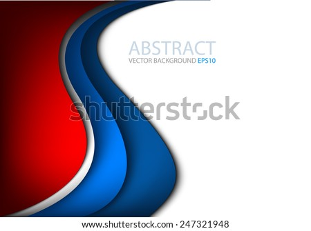 stock-vector-vector-background-with-blue-and-silver-curve-line-on-white-and-red-space-for-text-and-message