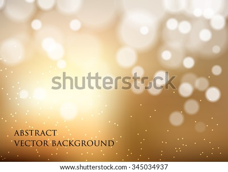 vector background with bokeh effect