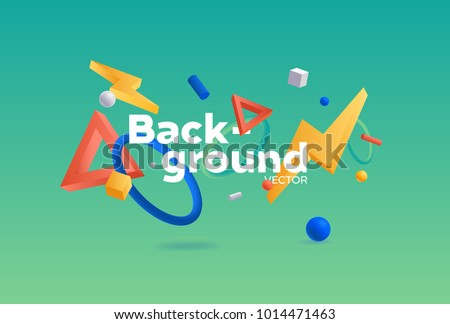 Vector background with bright colors and minimalistic shapes #1014471463