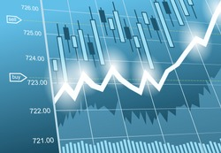 Vector background with business, financial data and diagrams