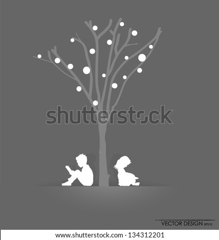 vector background with children