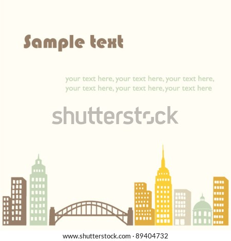 vector background with city