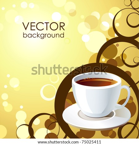 Vector background with cup of tea.
