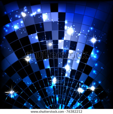 vector background with disco ball