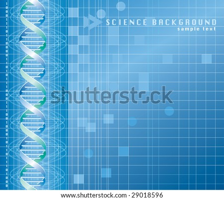 vector background with DNA graph