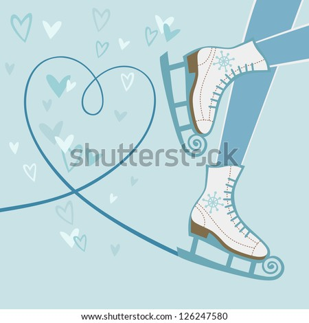 vector background with feet in