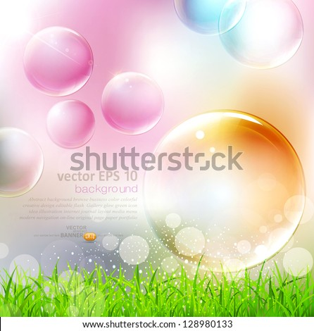 vector background with flying
