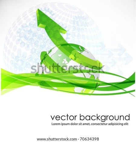 vector background with globe and arrow
