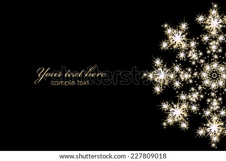 vector background with glowing