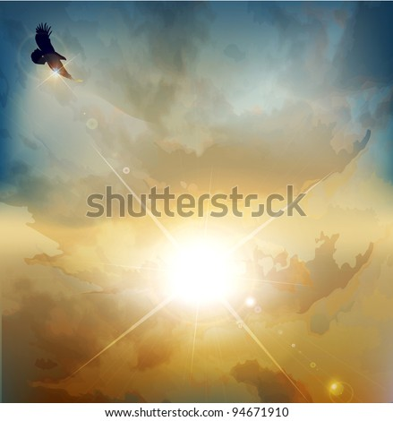 vector background with high