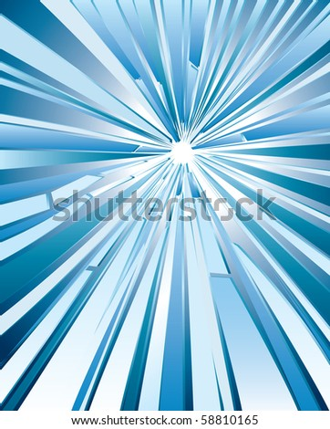 vector background with hole in broken glass