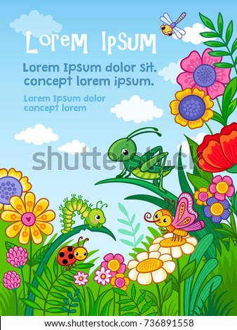vector background with insects