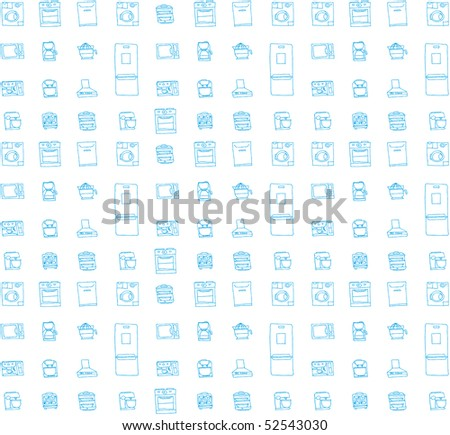 Vector background with kitchen stuff