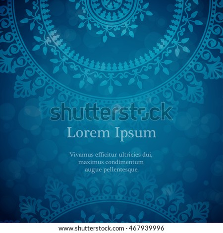 vector background with mandala