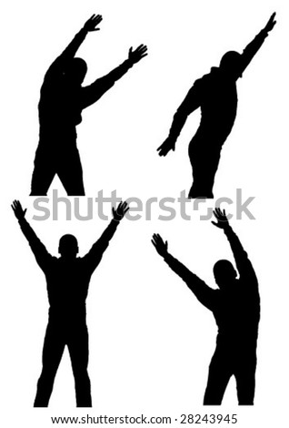 vector background with moving men
