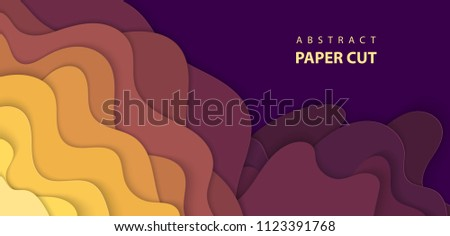 Vector background with multicolor paper cut shapes. 3D abstract paper art style, design layout for business presentations, flyers, posters, prints, decoration, cards, brochure cover.