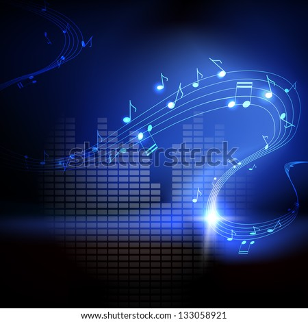 vector background with musical