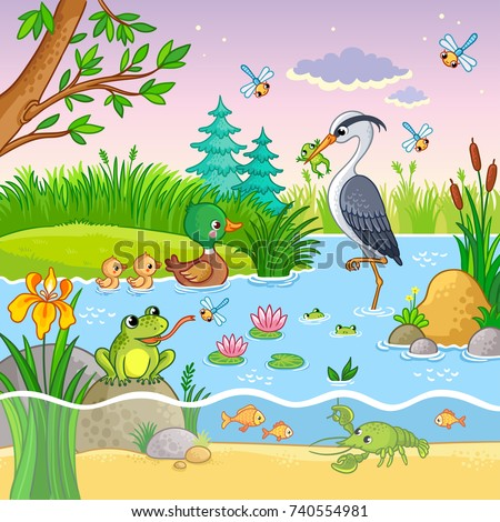 vector background with nature