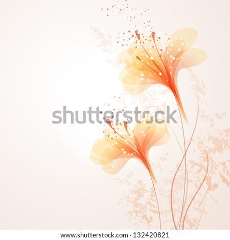 vector background with orange