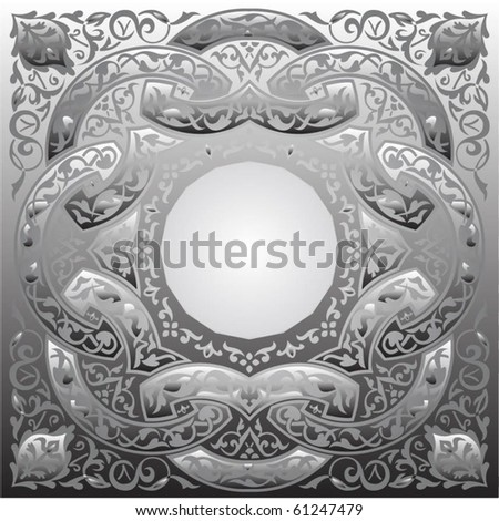 vector background with ornaments and place