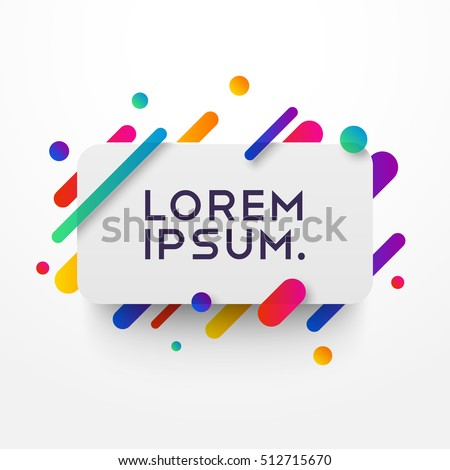 stock-vector-vector-background-with-paper-card-and-abstract-colorful-shapes-trendy-neon-lines-and-circles