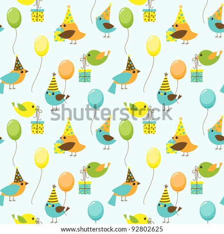 Vector background with party birds - stock vector