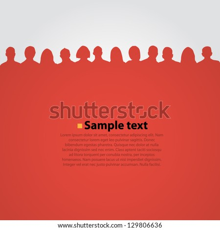 Vector background with people silouette.